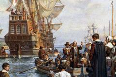 Pilgrim-Fathers-painting-Mayflower-Bernard-Gribble